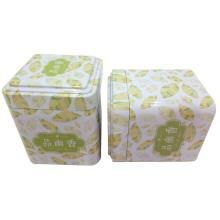 Square Metal Tea Tin Box