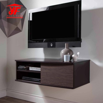 Black Bedroom Simple TV Stand with Mount