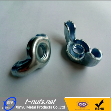 Zinc plated stamped wing nuts