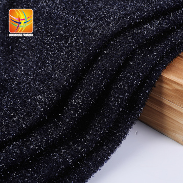 Metal Textured Plush Polyester Fabric For Clothing