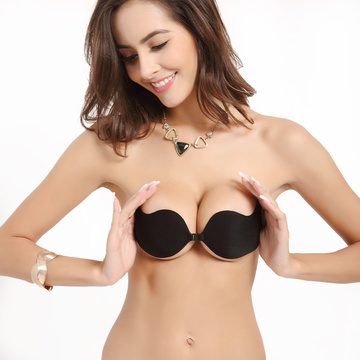 Adhesive push up silicone bra for backless dress