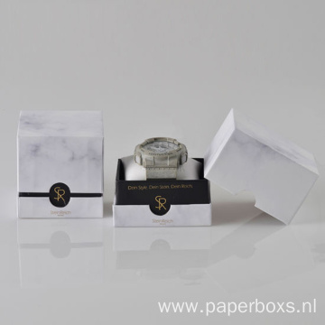 Luxury Marble Printing Packaging Watch Cardboard Box