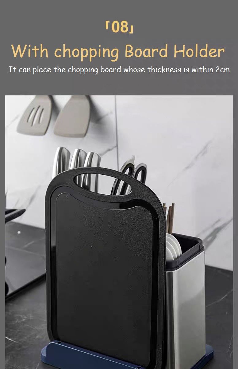 kitchen Tableware Sanitizer with Chopping Board Holder