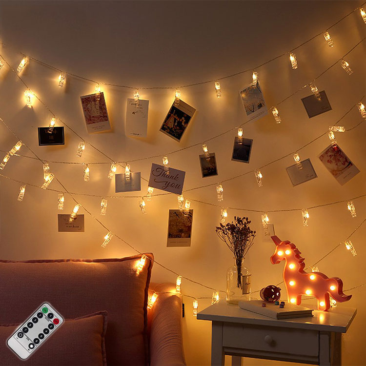 clip photo led string lights