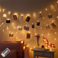 Venta al por mayor Led Metal Photo Clip String Lights