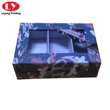 Rigid cardoard paper box with window box