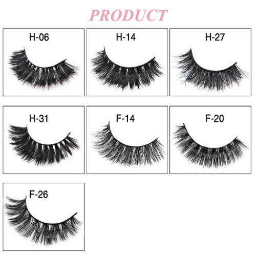 Wholesale 7 Pair 3D Mink False Eyelashes With Flower Trays Packaging