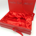 Hair extension packaging box with satin