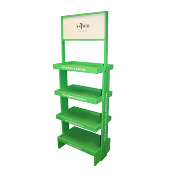 skin care product floor pos display stand