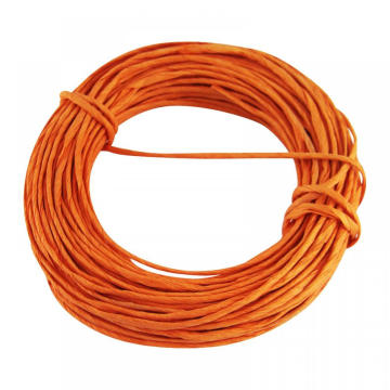 orange color twisted paper cord