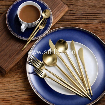 High Quality Matte Golden Stainless Steel Flatware Set