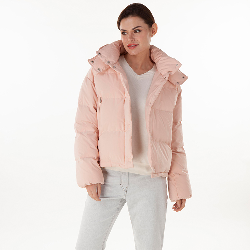 Pink normal down jacket