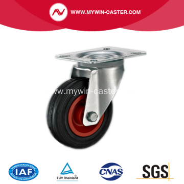 6 Inch Plate Swivel Rubber Industrial Castor Wheel