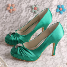 Green Wedding Pumps for Bride