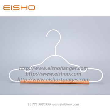 EISHO New Child Metal Hangers With Wood Bar