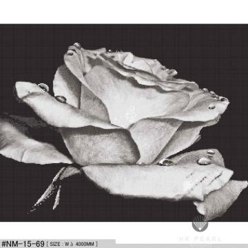 Glass Mosaic Rose Black And White Art Mural