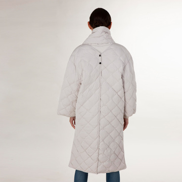 White winter down jacket