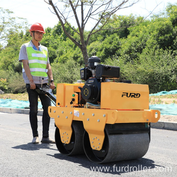 Walk behind double drum roller manual push roller compactor FYL-S600C