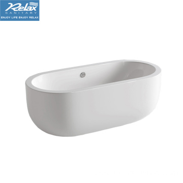 Acrylic oval indoor white color classical bathtub