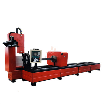 4 axis plasma machine square pipe circle metal tube plasma cutting machine