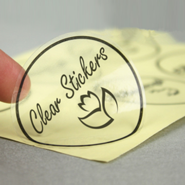 Custom Waterproof Transparent Label Vinyl Sticker Printing
