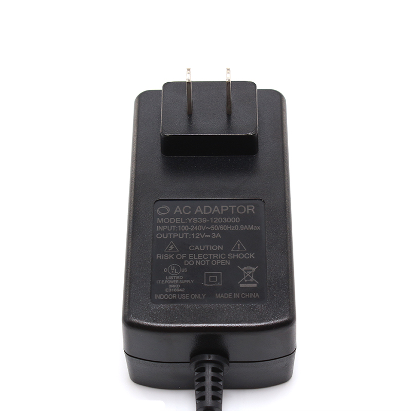 36W AC/DC Wall Mount Power Adapter 18V 2A
