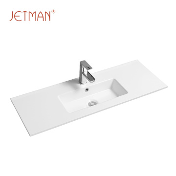 Long square porcelain imported wash basin vanity top bathroom sink