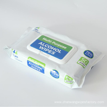 Various Pack Style Alcohol Disposable Wet Disinfectant Wipes