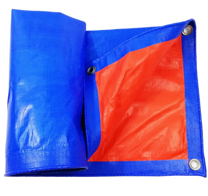 Blue Orange Tarp Sheet Anti Uv