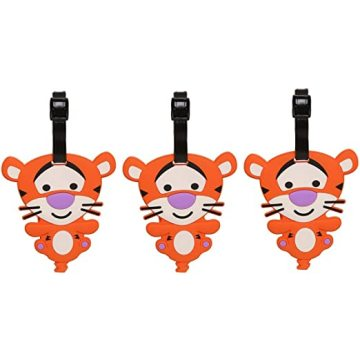 Custom Food Grade Silicone Cartoon Cute Luggage Tags