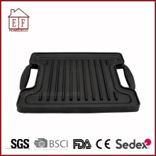 Double-faced dual purpose cast iron griddle pan