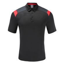 Mens Dry Fit Soccer Wear Polo Shirt Black
