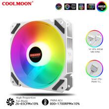 Water Cooling Fan ARGB Lighting, 4Pin PWM TEMP. Control, Radiator Fan, 5V DRGB MB SYNC