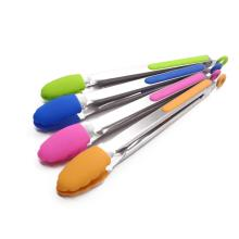 silicone kitchen tongs with stainless steel handle