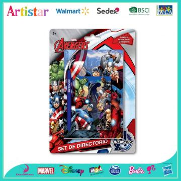 Avengers 3-piece notebook blister card set