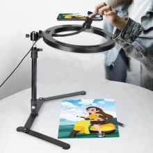 Video Youtube Fill Ring Light Lamp Live COOK 26CM Photography Lighting Phone Ringlight Tripod Stand Photo Led Selfie Bluetooth