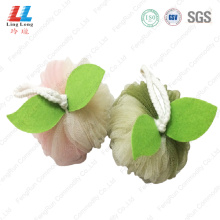 Gradient apple shape mesh sponge