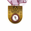 Personalized custom football club award medal with ribbon