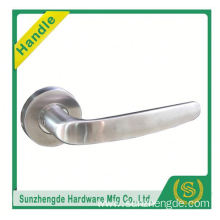 SZD STLH-002 China Supplier Curved Lever Handle On Rose Satin Stainless Steel Door Handles