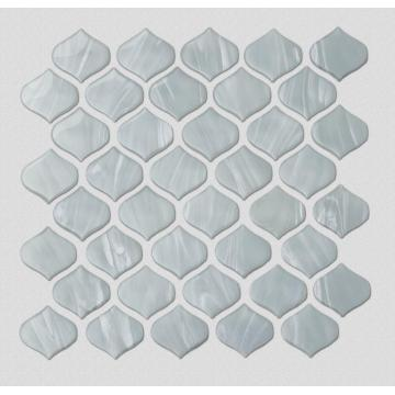 White Glass Mosaic Tiles For Kitchen And Bathroom