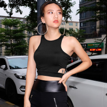 Body Tops Streetwear Fashion Women Tank Tops Summer Sexy Halter Solid Color Sleeveless Casual Shirt Cropped Tops Vest