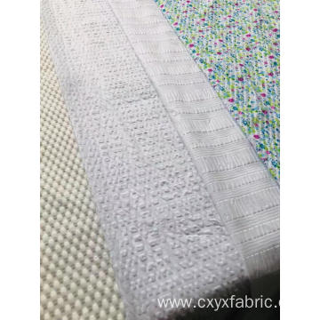 Polyester Print Fabric in Seersucker