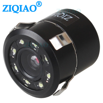 ZIQIAO Car Reversing Rear View Camera 8 LED Night Vision Parking Backup Camera HS017