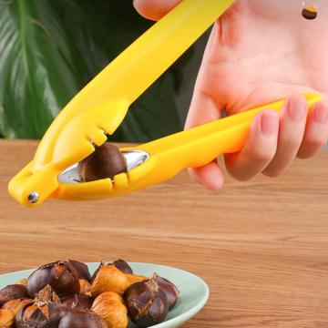 VOGVIGO Nut Opener Cutter Gadgets 2 in 1 Quick Chestnut Clip Walnut Pliers Metal Nutcracker Sheller Kitchen Tool Stainless Steel
