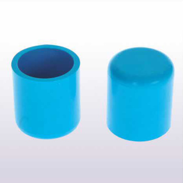 UPVC JIS K-6743 Pressure End Cap Blue Color