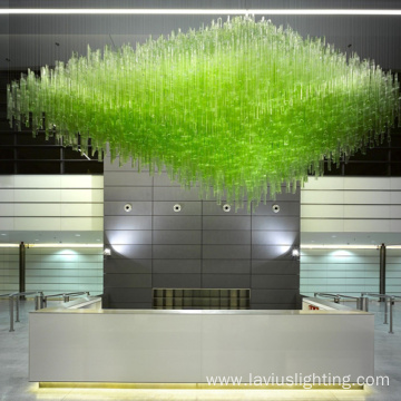 Originality customizable delicate club glass chandelier