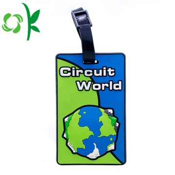 Printable Standard Soft PVC Custom Airplane Baggage Tag