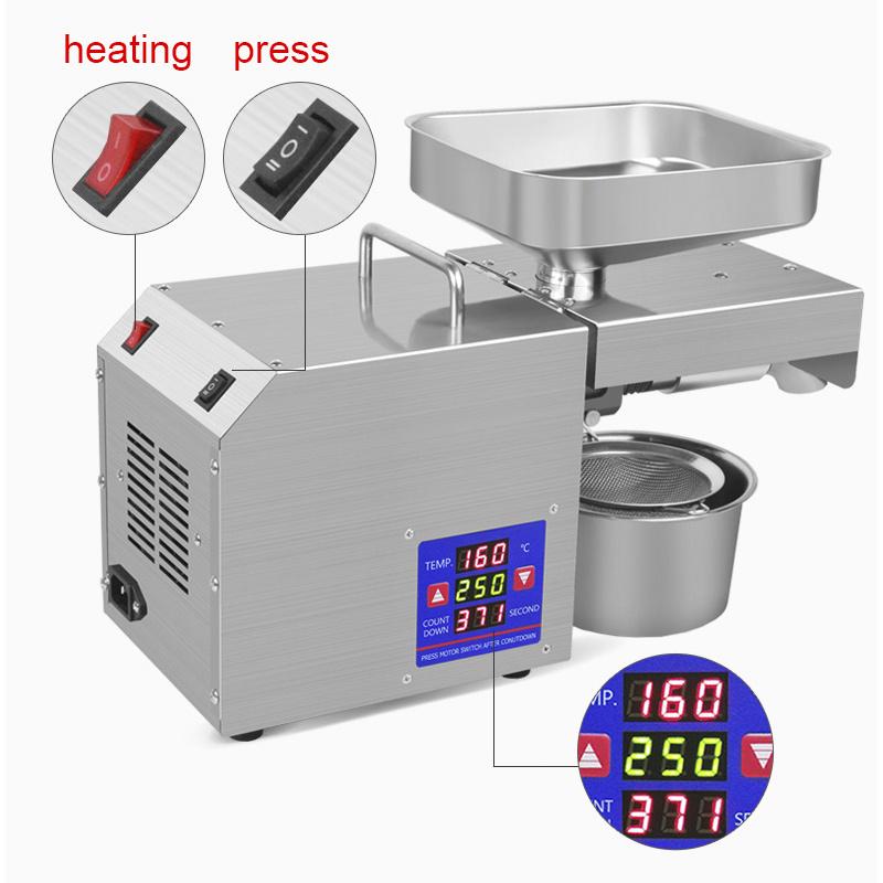New Type Home Hydraulic Press Oil Press Automatic Flax Seed Cold Press Oil Sunflower Oil Press Olive Oil Press