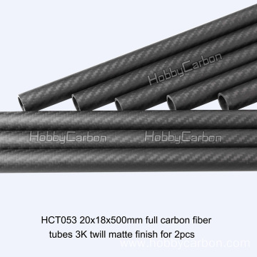 20x18x500mm Carbon Fiber Tube for RC Toys