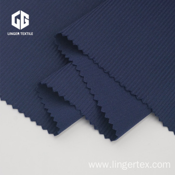 Plain Dyed Stripe Jacquard Interlock Fabric For T-Shirt